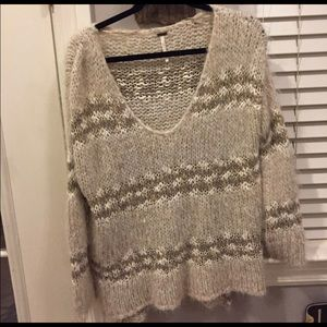 Free People Cropped Striped Sweater